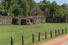 Taras słonie, Angkor Wat, Kambodża Obrazy Royalty Free