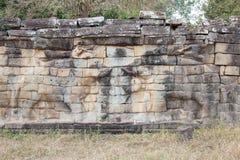 Taras słonie Obraz Royalty Free