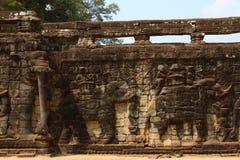 Taras słonie, Angkor Thom Zdjęcia Royalty Free