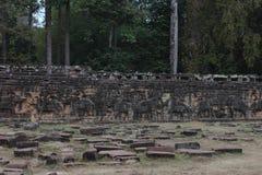Taras słonie, Angkor Thom Fotografia Royalty Free