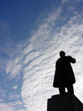 Taras Shevchenko monument, Cherkasy, Ukraine. Back lit Royalty Free Stock Images