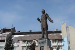 Taras Shevchenko-Monument in Drohobych, West-Ukraine Foto angenommen: Am 17. Februar 2017 Stockfotografie