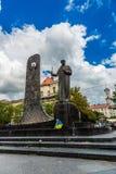 Taras Shevchenko Monument em Lviv, Ucrânia Fotografia de Stock