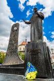 Taras Shevchenko Monument em Lviv, Ucrânia Imagens de Stock Royalty Free