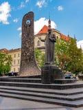 Taras Shevchenko Monument en Lviv, Ucrania Imagen de archivo libre de regalías