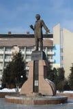 Taras Shevchenko monument i Drohobych, västra Ukraina Foto som tas på: Februari 17th, 2017 Royaltyfri Foto