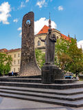 Taras Shevchenko Monument a Leopoli, Ucraina Immagine Stock Libera da Diritti