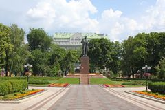 Taras Shevchenko monument in the park Royalty Free Stock Image