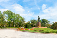Taras Shevchenko monument in Shevchenko park, Kyiv, Ukraine Stock Photography