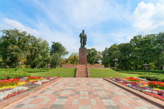 Taras Shevchenko monument in Shevchenko park, Kyiv, Ukraine Royalty Free Stock Photo