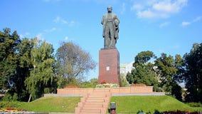 Taras Shevchenko-Monument während des Unabhängigkeitstags in Kiew, Ukraine, stock footage