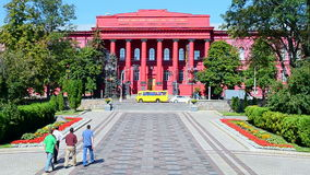 Taras Shevchenko National University of Kyiv aka KNU in Kiev, Ukraine, stock video footage