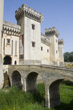 Tarascon城堡入口 库存图片