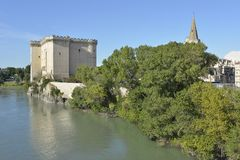 Tarascon城堡在法国 库存图片