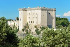Tarascon城堡在法国 库存照片