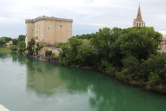Tarascon Castle on the Rhône River, France Royalty Free Stock Images