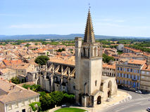 Tarascon, France. Tarascon and St. Martha's Church from atop the castle, France Stock Image