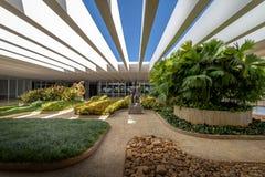 Tarasowi ogródy Itamaraty pałac - Brasilia, Distrito Federacyjny, Brazylia zdjęcia stock