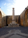 Tarasowy teren Górni Barrakka ogródy, Valletta, Malta obraz royalty free