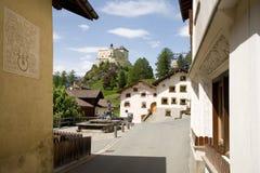 Tarasp Dorf Lizenzfreies Stockfoto