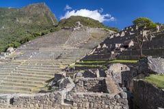 Tarasy Machu Picchu święty przegrany miasto Incas w Peru Obraz Royalty Free