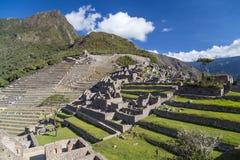 Tarasy Machu Picchu święty przegrany miasto Incas w Peru Zdjęcie Royalty Free