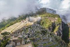 Tarasy przy Machu Picchu inka ruinami - Święta dolina, Peru Obrazy Royalty Free