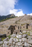 Tarasy przy Machu Picchu inka ruinami - Święta dolina, Peru Obrazy Stock
