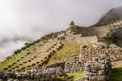 Tarasy przy Machu Picchu inka ruinami - Święta dolina, Peru Obraz Royalty Free