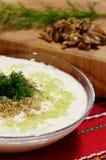 Tarator - traditional bulgarian cold sorrel soup Royalty Free Stock Photography