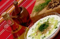 Tarator - traditional bulgarian cold sorrel soup Stock Image