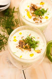 Tarator - traditional bulgarian cold summer soup Royalty Free Stock Images