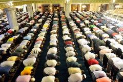 Tarawih祷告穆斯林 库存图片