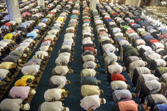 Tarawih祷告穆斯林 免版税图库摄影