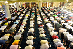 Tarawih prayers the Muslims Stock Images