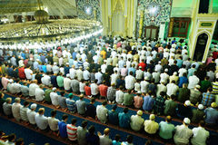 Tarawih prayers the Muslims Stock Photography