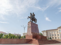 Taraz, Kazakhstan - August 14, 2016: Monument Baidibek mounted o. N the central square Stock Image