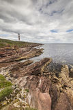 Tarbat Ness Lighthouse in Scotland. Royalty Free Stock Images