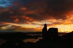 Tarbert Castle στην αυγή Στοκ εικόνα με δικαίωμα ελεύθερης χρήσης