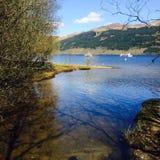 Tarbet,洛蒙德湖,苏格兰 免版税库存照片