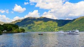 Tarbet Loch Lomond Skottland arkivfoton
