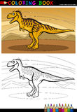 Tarbosaurus dinosaur for coloring book Stock Image