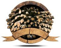 Tarcica przemysł - Drewniana ikona Fotografia Royalty Free