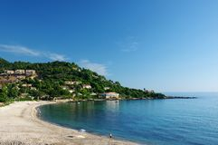 Tarco beach in corsica Stock Photography