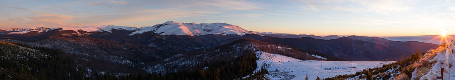 Tarcu Mountain panorama Royalty Free Stock Photos