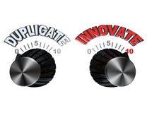 tarcza duplikat wprowadzać innowacje gałeczki target458_0_ Obrazy Royalty Free