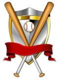 tarcza ilustracyjna banner baseball Zdjęcie Stock