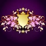 tarcza kwiecista tło Zdjęcie Royalty Free