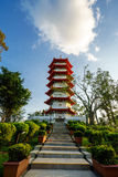 Tarde bonita do pagode celestial, jardim chinês Imagens de Stock