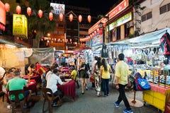 Tarde Chinatown en Kuala Lumpur, Malasia Imagen de archivo